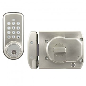 BT-Rimlock-K - Battery Powered Bluetooth Smart Rim Lock with Keypad