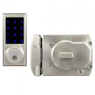 BT-Rimlock-TK - Battery Powered Bluetooth Smart Rim Lock with Illuminated Touch Keypad