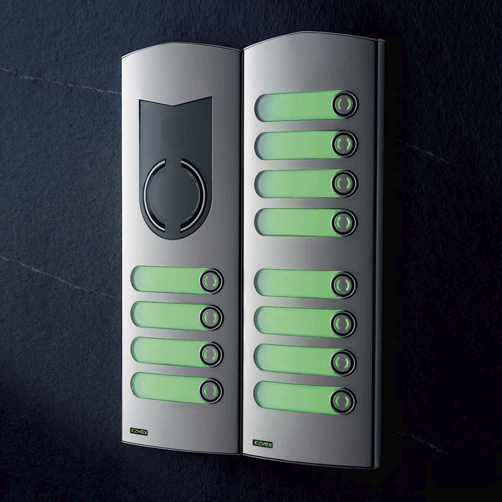 Elvox 1200 Series 4 button with 8 button extension panel