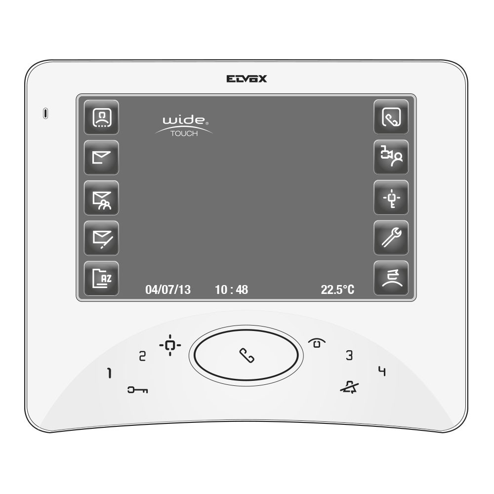 Elvox Vimar 7300 Series Touch Wide Screen Video Monitor - Diagram