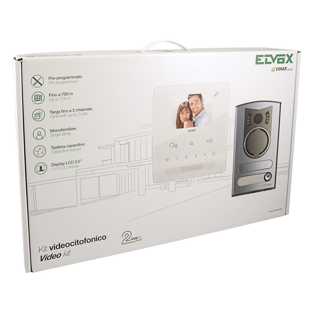 Elvox 7539/M Video Door Entry Kit Packaging