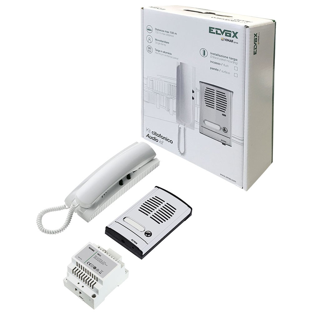 Elvox 885G Audio Door Entry Kit for single entrance
