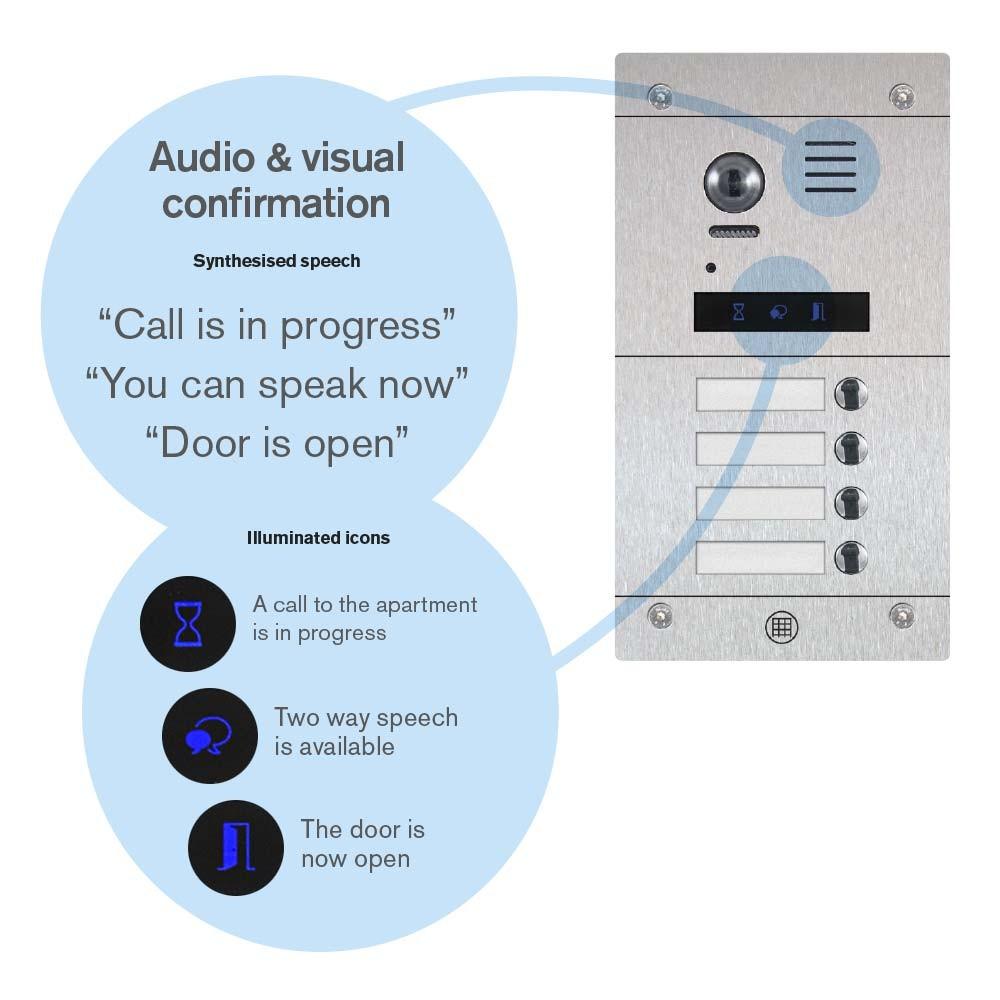 DDA Friendly enabled door entry panels