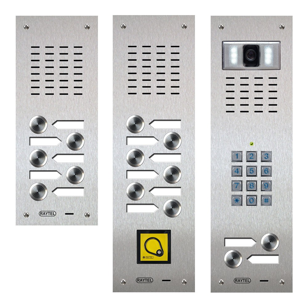 Audio and video Door Entry panels - Compact Range
