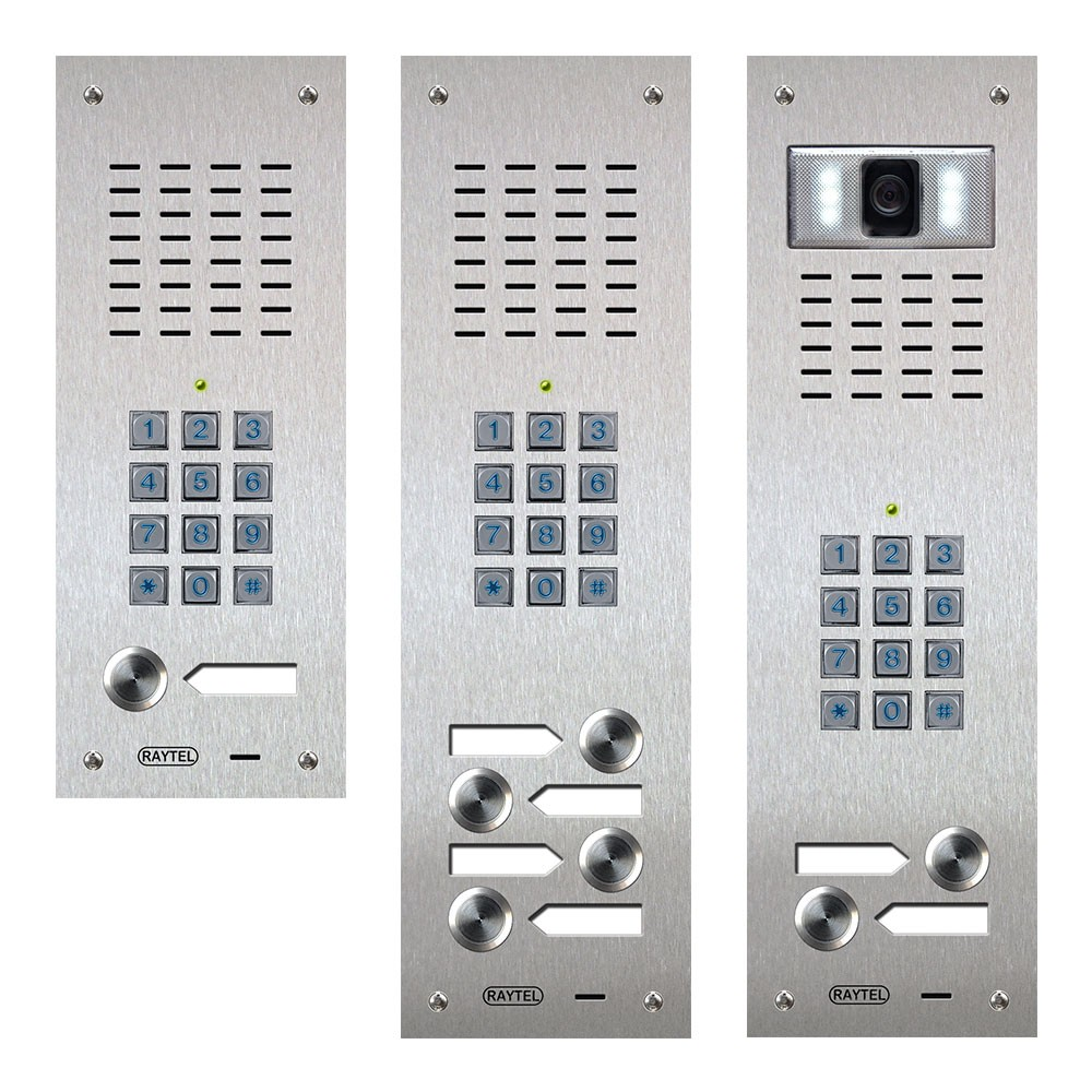 Compact Range Audio and Video Door Entry Panels with Keypad Coded Access