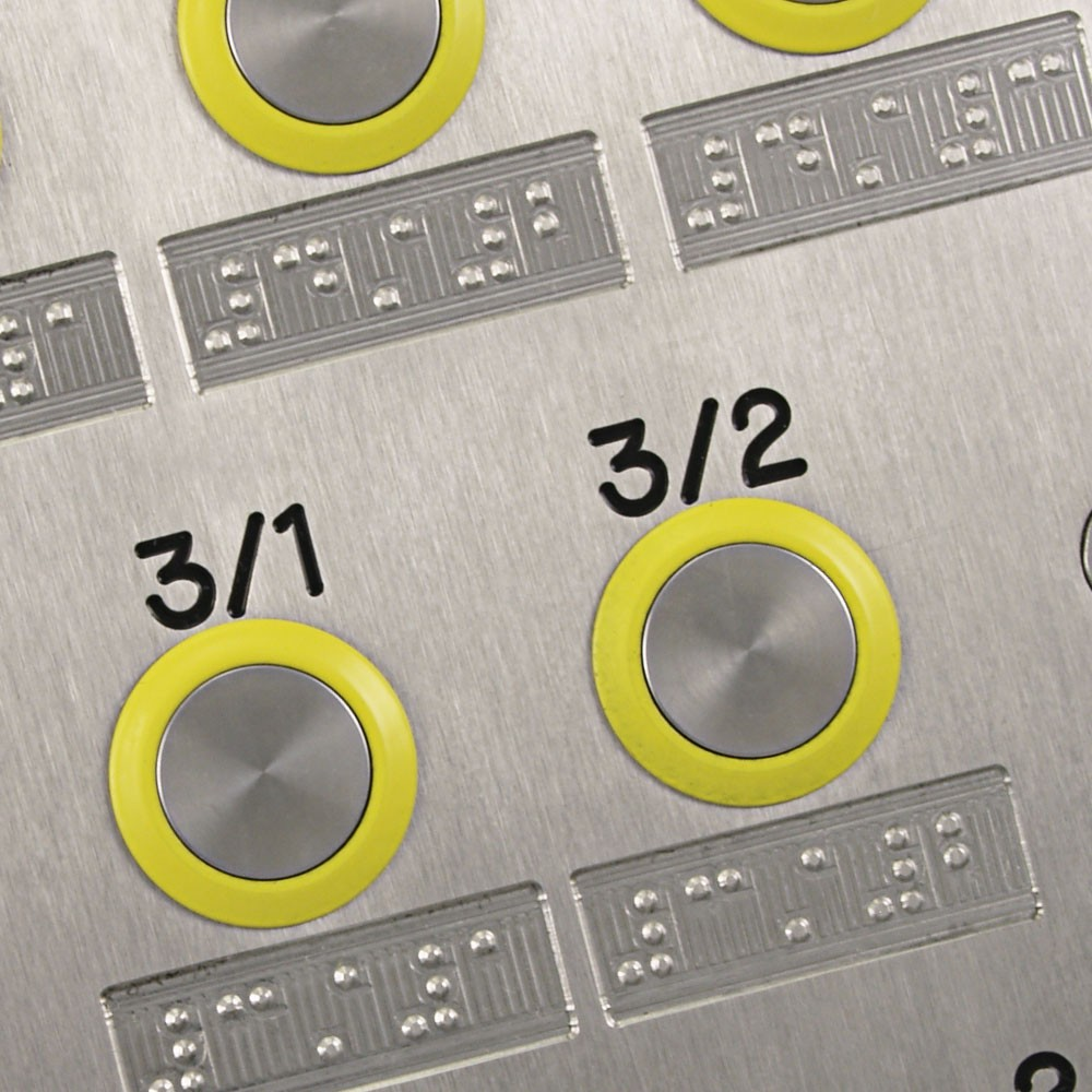 Braille, high visibility buttons and apartment numbers - DDA Friendly