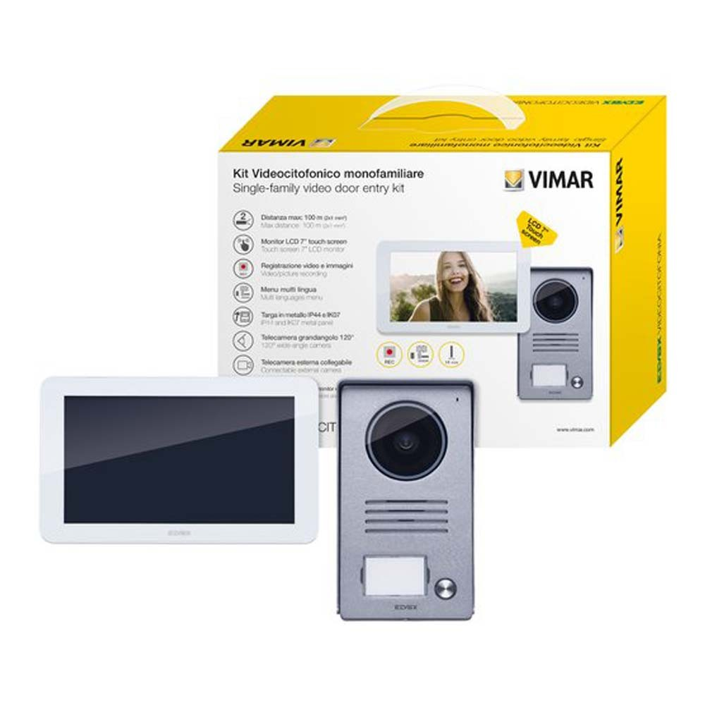 Video Door Entry Kit with Touch Screen Colour Monitor