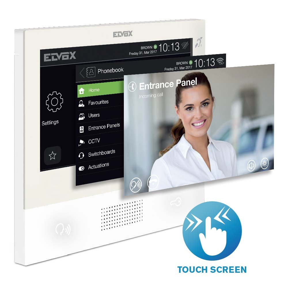TAB 7S Touch Screen Video Door Entry Monitor - 2 Wire