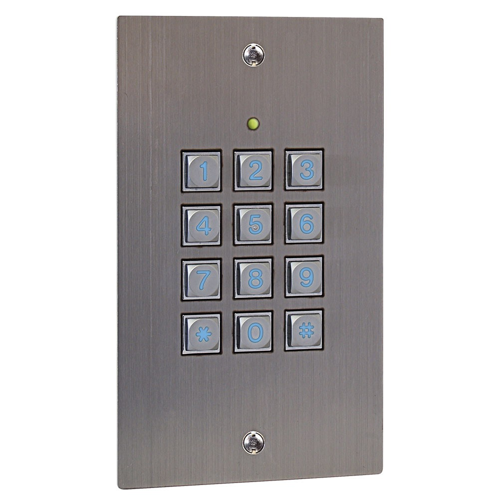 K50i Access Control keypad in Stainless Steel - flush mounting