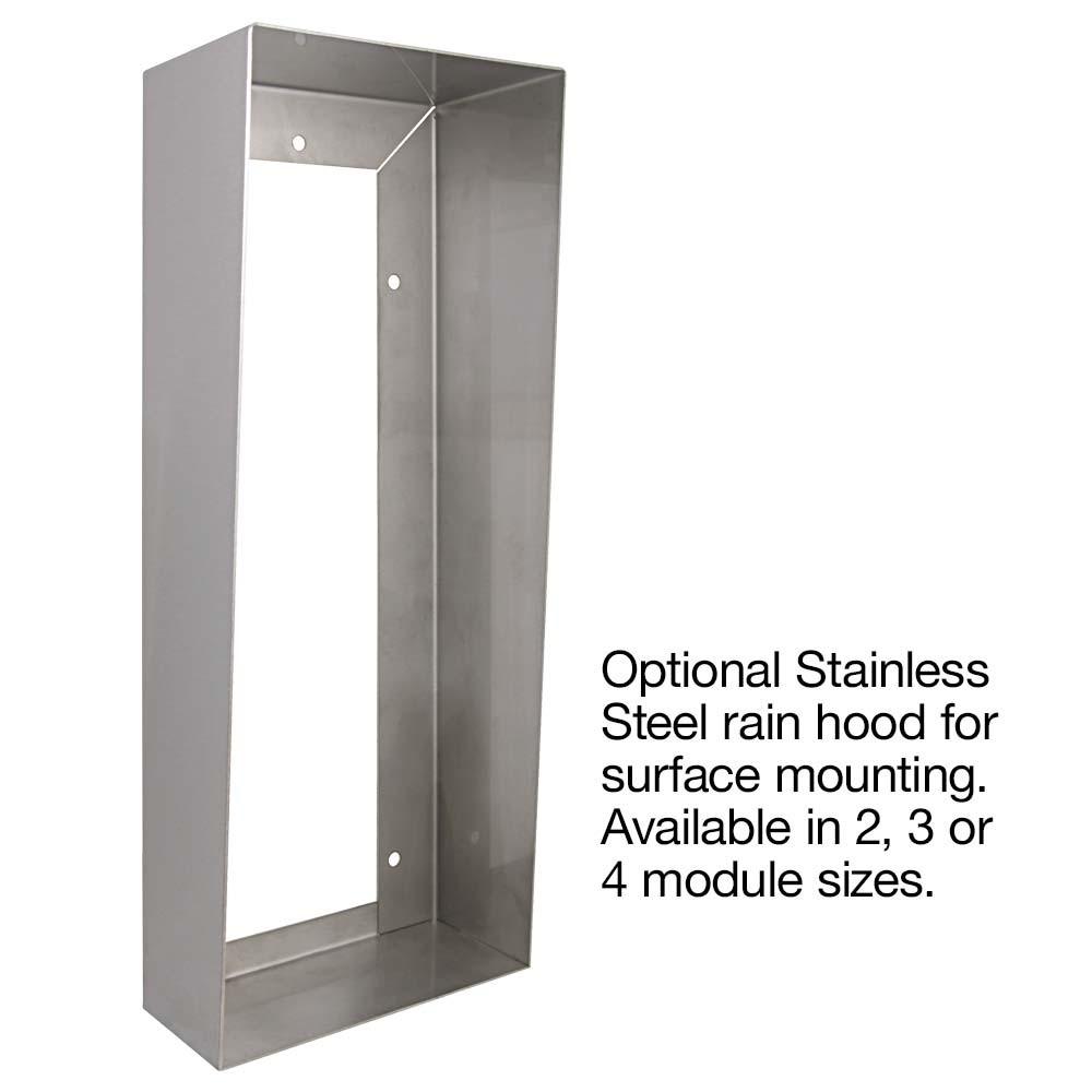 Optional Stainless Steel Rain Hood
