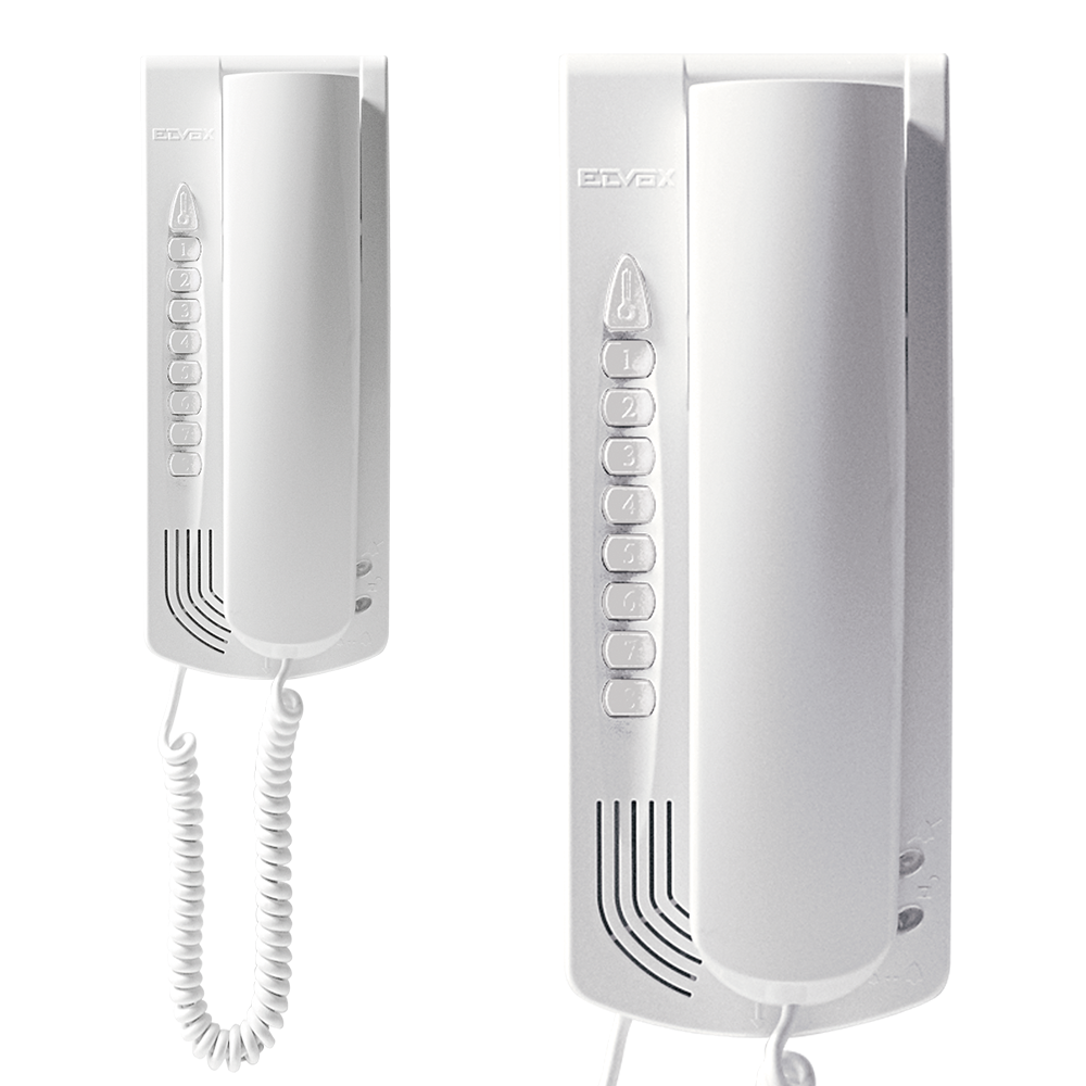 Elvox Petrarca 6200 Series Door Entry Audio Handset - White