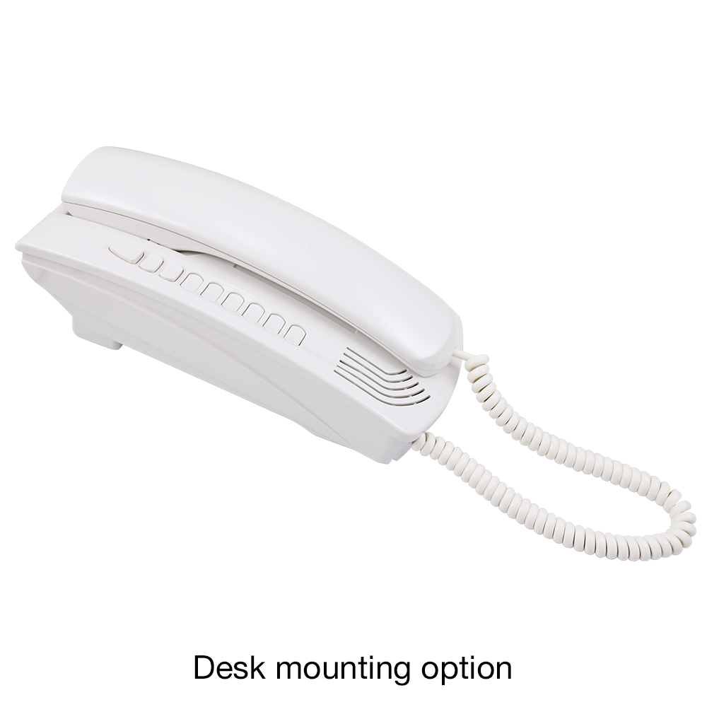 Elvox Petrarca 6200 Series Door Entry Audio Handset Desk Mounting - White