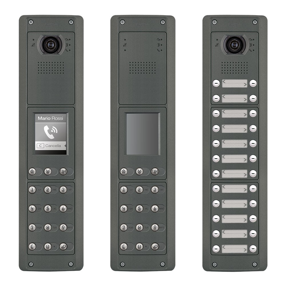 Elvox Pixel Heavy Door Entrance Panels Audio and Video Functional and Digital Dial
