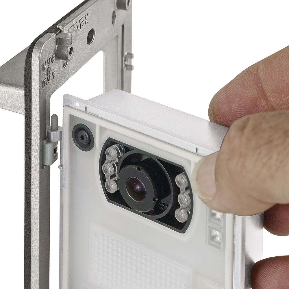 Elvox Pixel hinged access for easy wiring and installation