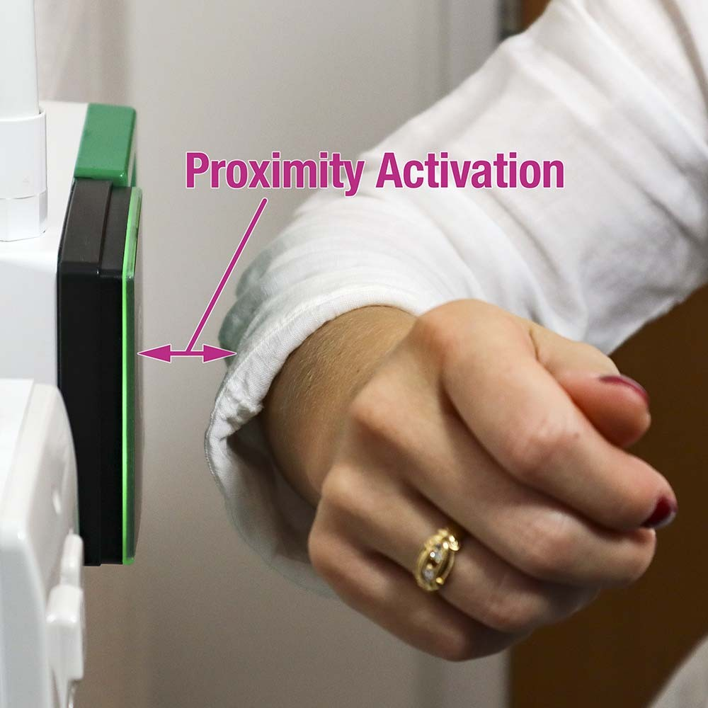 Proximity Activation of Exit Button