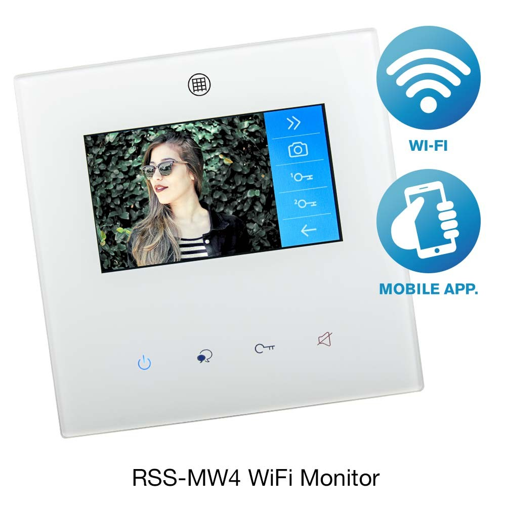 Door Entry Colour Monitor RSS-MW4 with WiFi and Mobile App