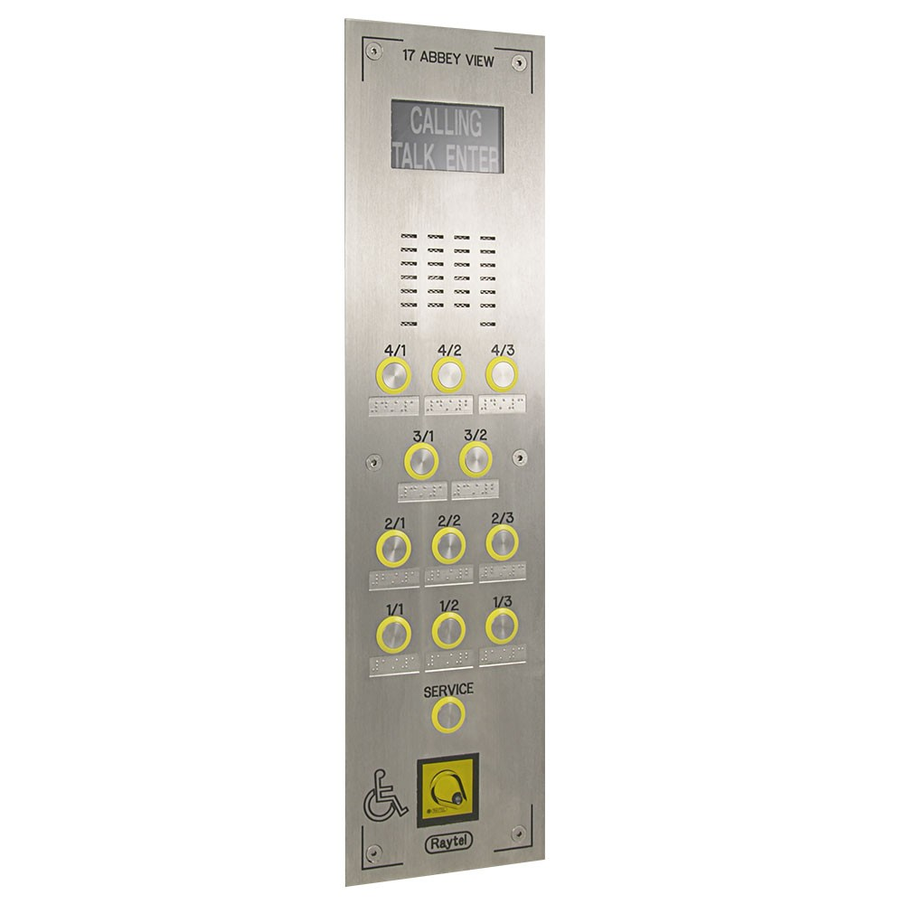DDA Friendly Video Door Entry Panel
