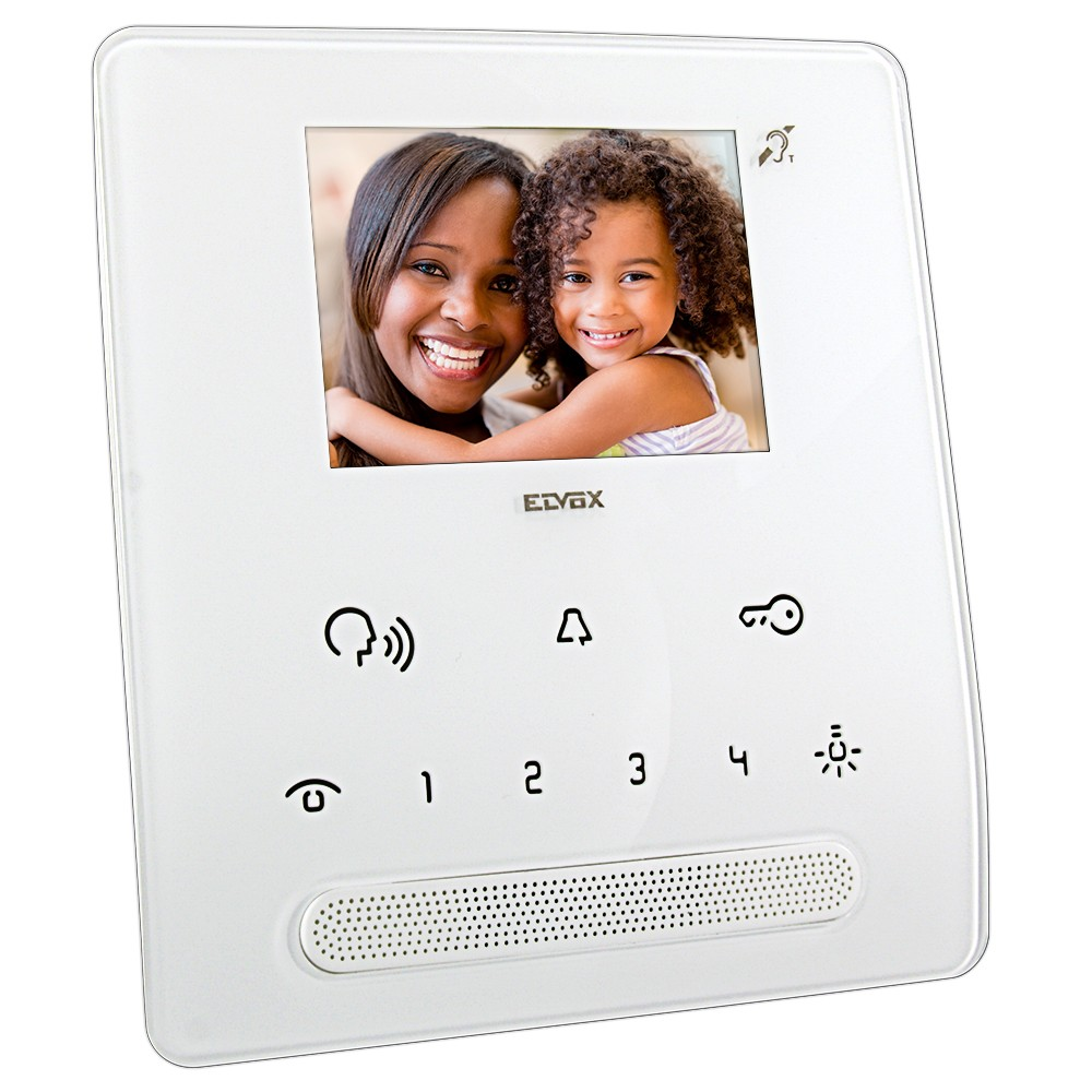 Elvox TAB Hands Free Video Door Entry Handset in White additional view