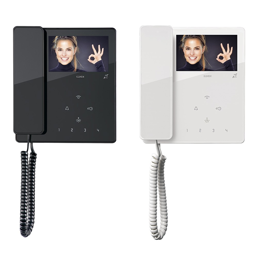 """TAB 4.3"""" Widescreen Video Door Entry Handsets in Black or White"""