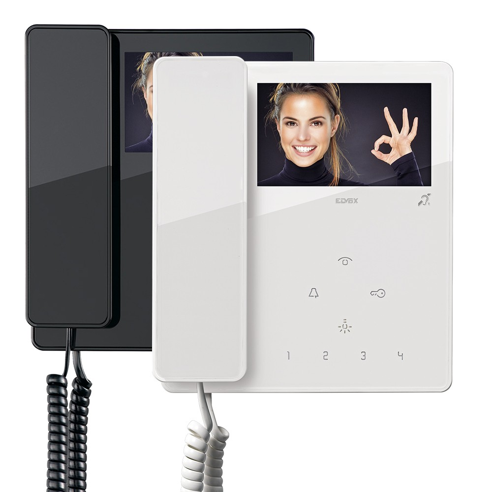 Elvox TAB Widescreen Video Door Entry Handsets in Black or White