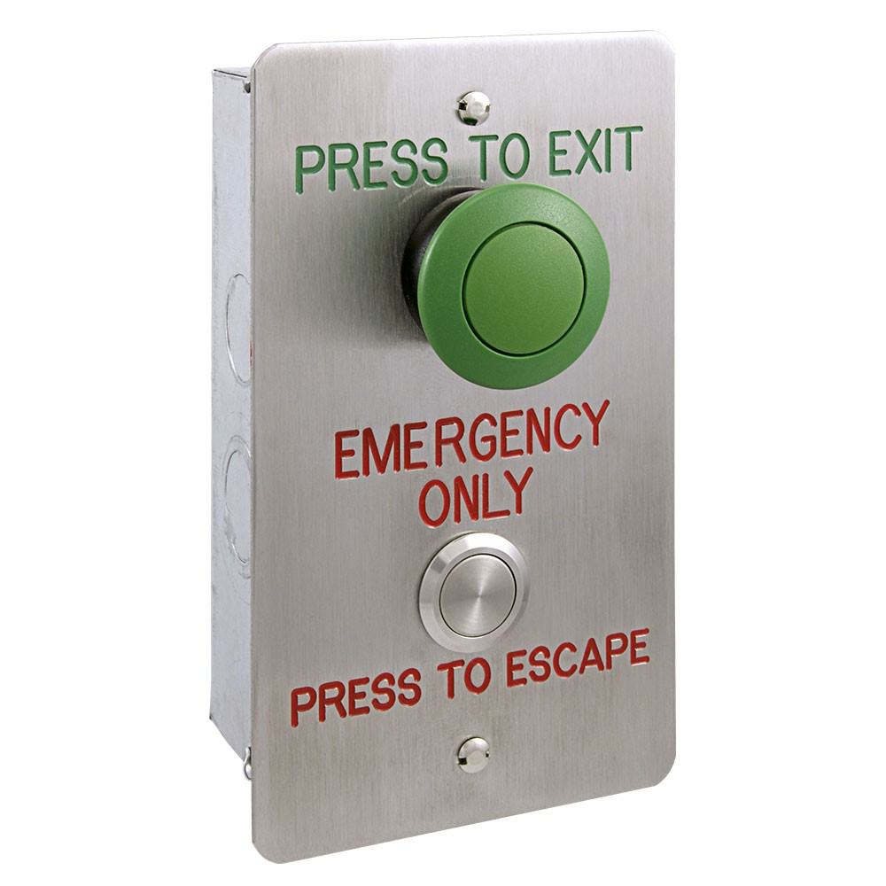 Vandal Resistant Press-to-Exit Button with Timed Reset Type VFET2