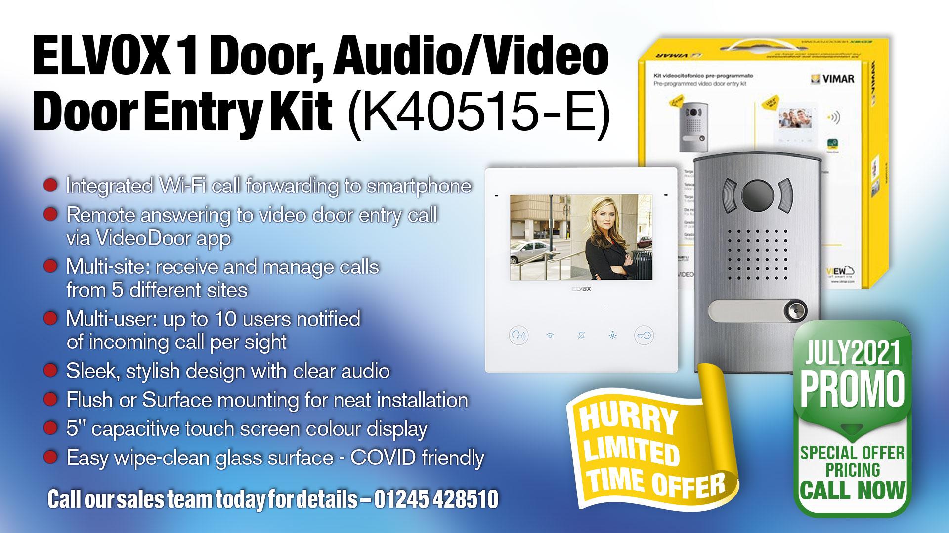 Vimar Elvox Door Entry single entrance video door entry kit K40515-E