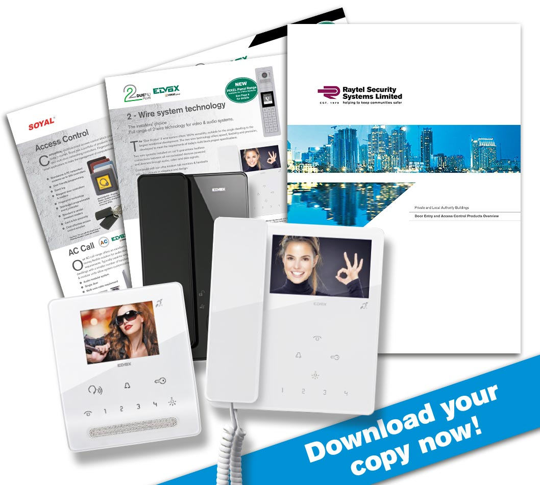 Raytel Security Systems New Access Control and Door Entry Products Overview Brochure