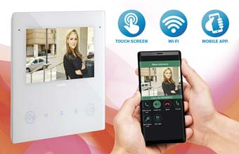 TAB 5S UP WiFi enabled Touch-screen Door Entry Colour Monitor