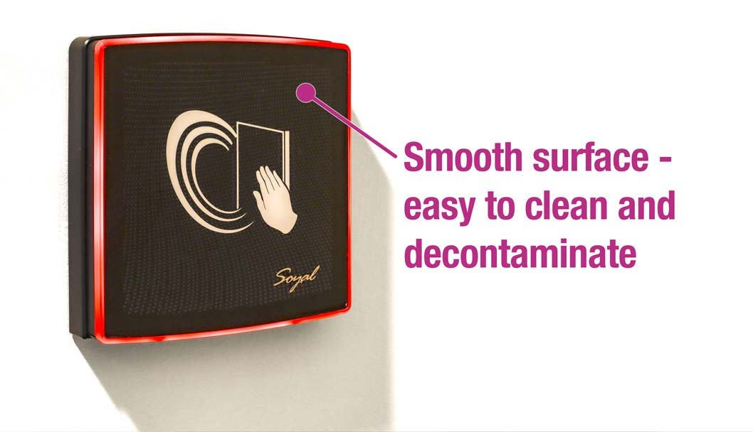 Easy to clean and decontaminate