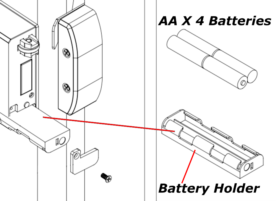 BT-Rimlock-K Smart Bluetooth Lock battery replacement